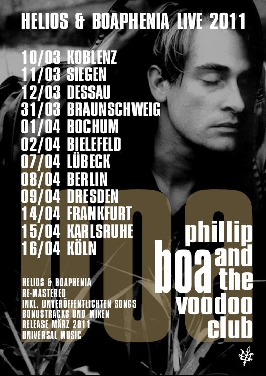 Phillip Boa and the Voodooclub Konzert in Köln Gebäude 9 am 16.04.2011